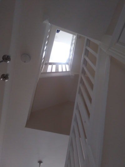 Staircase in Gosforth we used armstead durable matt for the walls